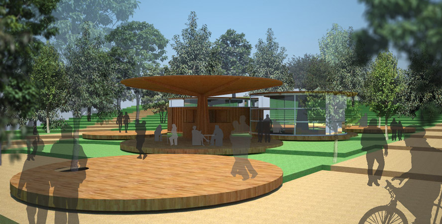 Quiosco-Cafeteria en Parque Urbano